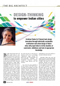 THE BIG ARCHITECT (Design - Thinking to empower Indian cities )