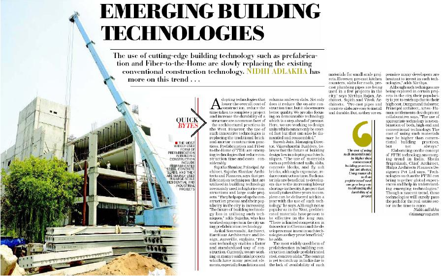 Emerging Building Technologies