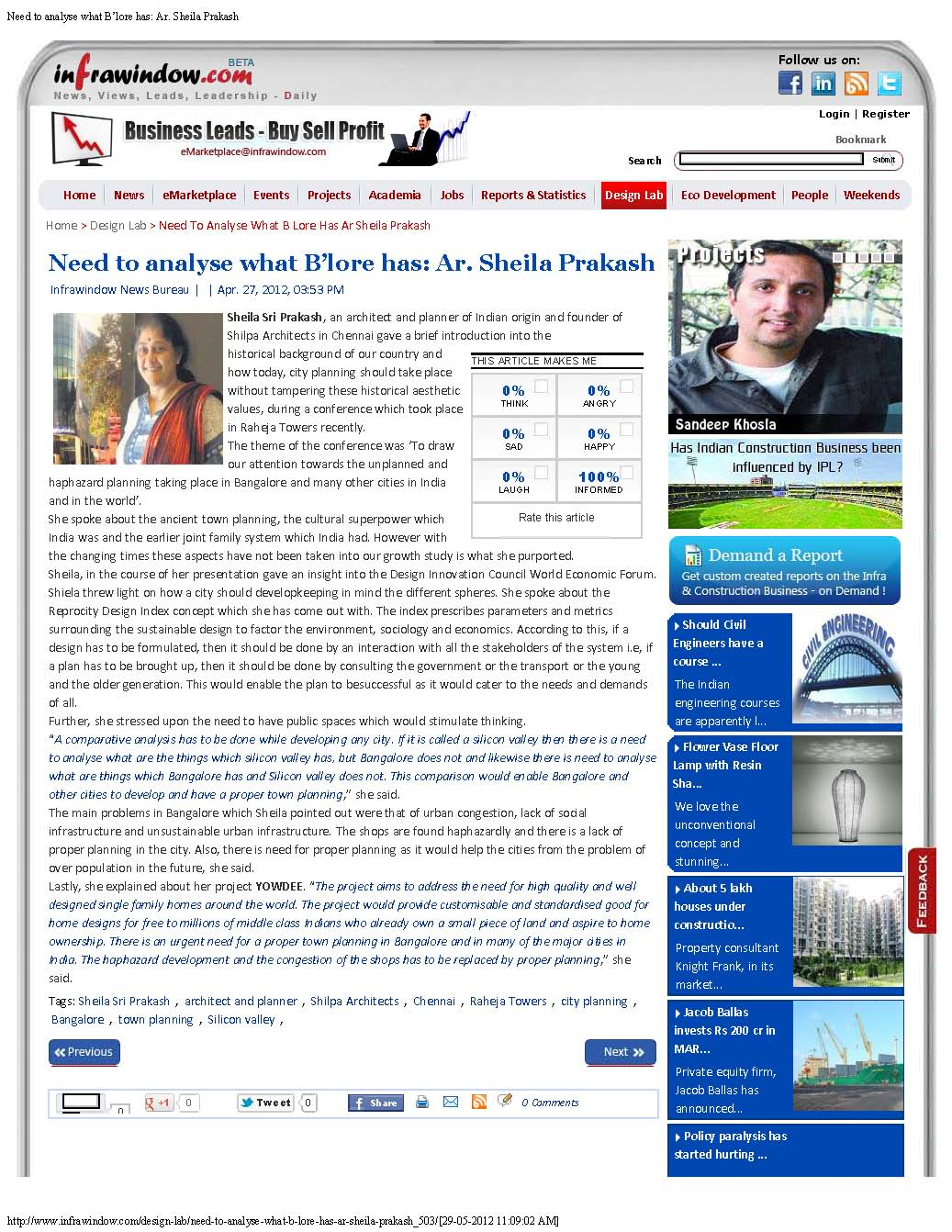 Infrawindow.com, 27 Apr 2012