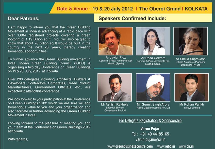 Ushering a Green Building Movement into West Bengal (CII & IGBC) - Sheila Sri Prakash