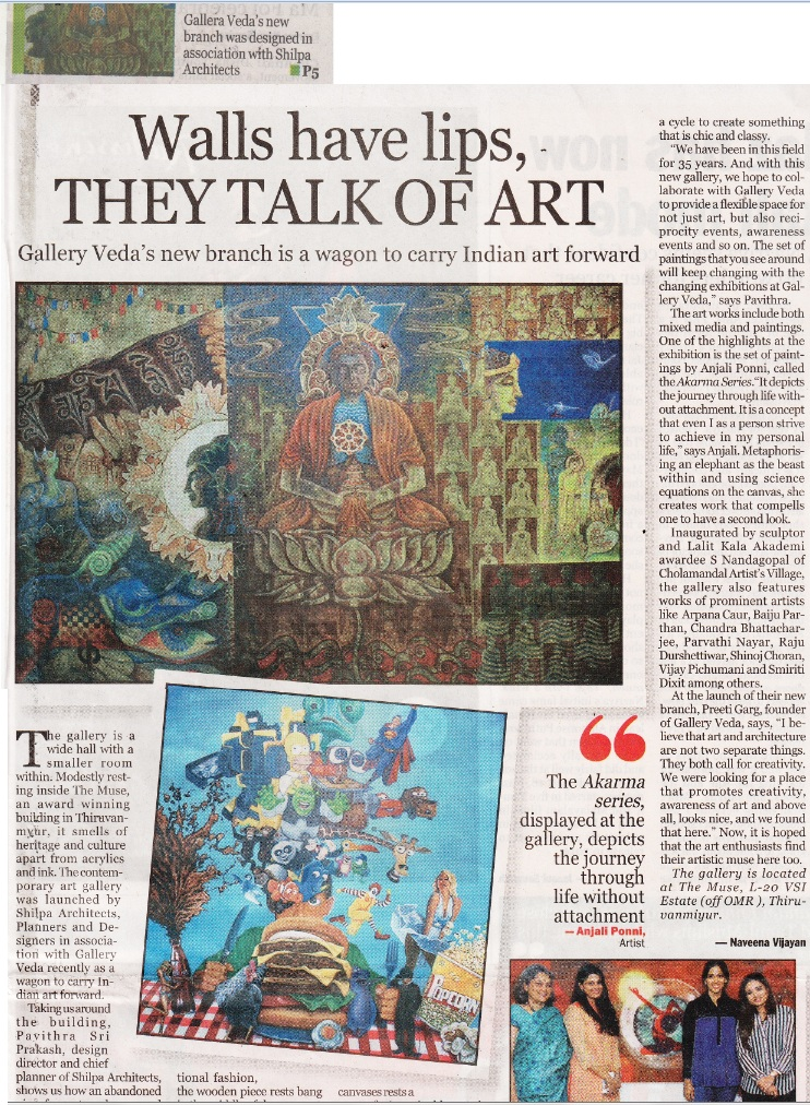New Indian Express: A WAGON TO BRING ART FORWARD