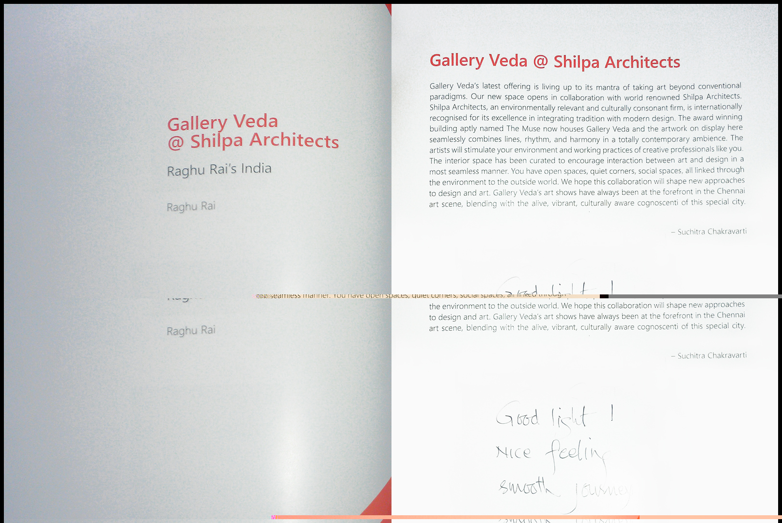 Gallery Veda at Shilpa Architects with Raghu Rai