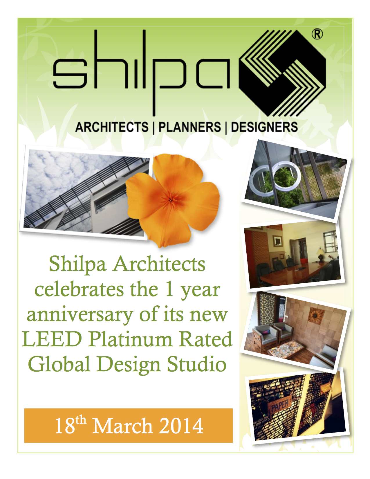 Global Design Studio of Shilpa Architects - One Year Anniversary