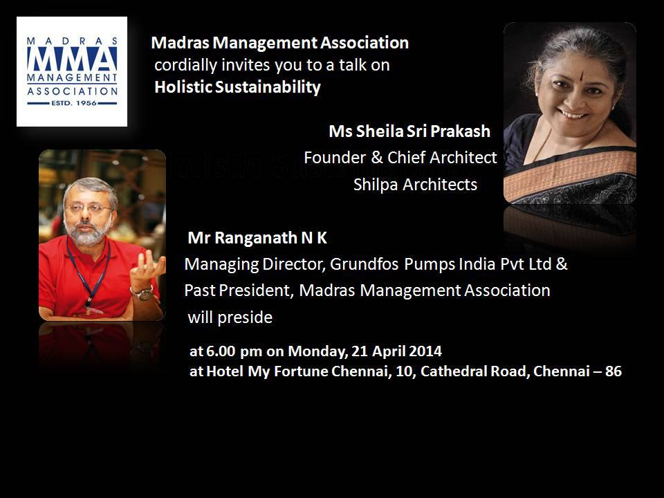 Madras Management Association (MMA): Sheila Sri Prakash