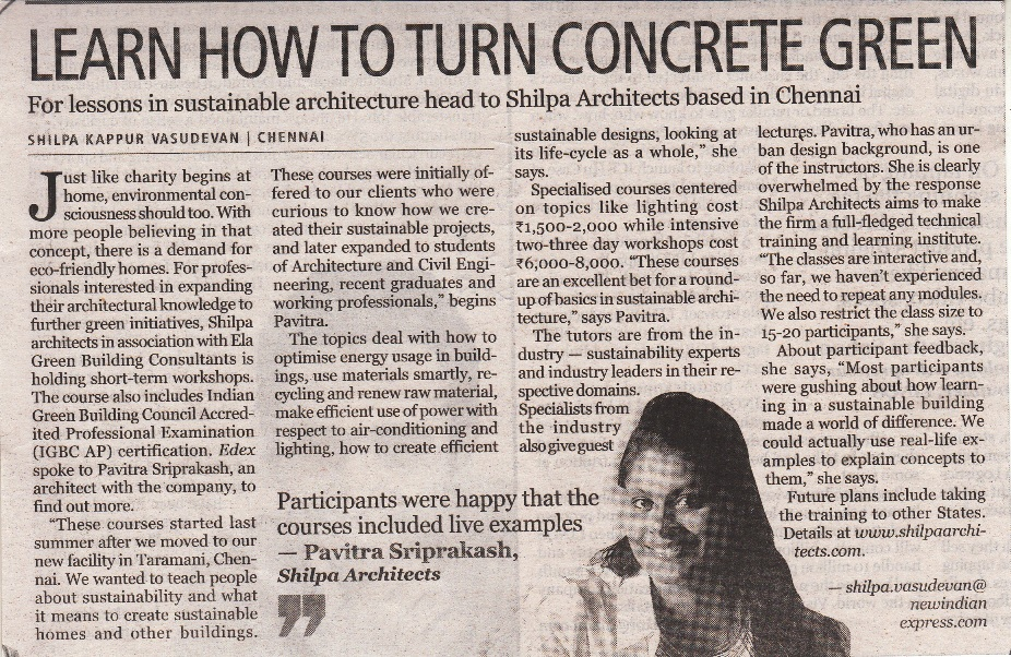 Learn How to Turn Concrete Green with Pavitra Sri Prakash