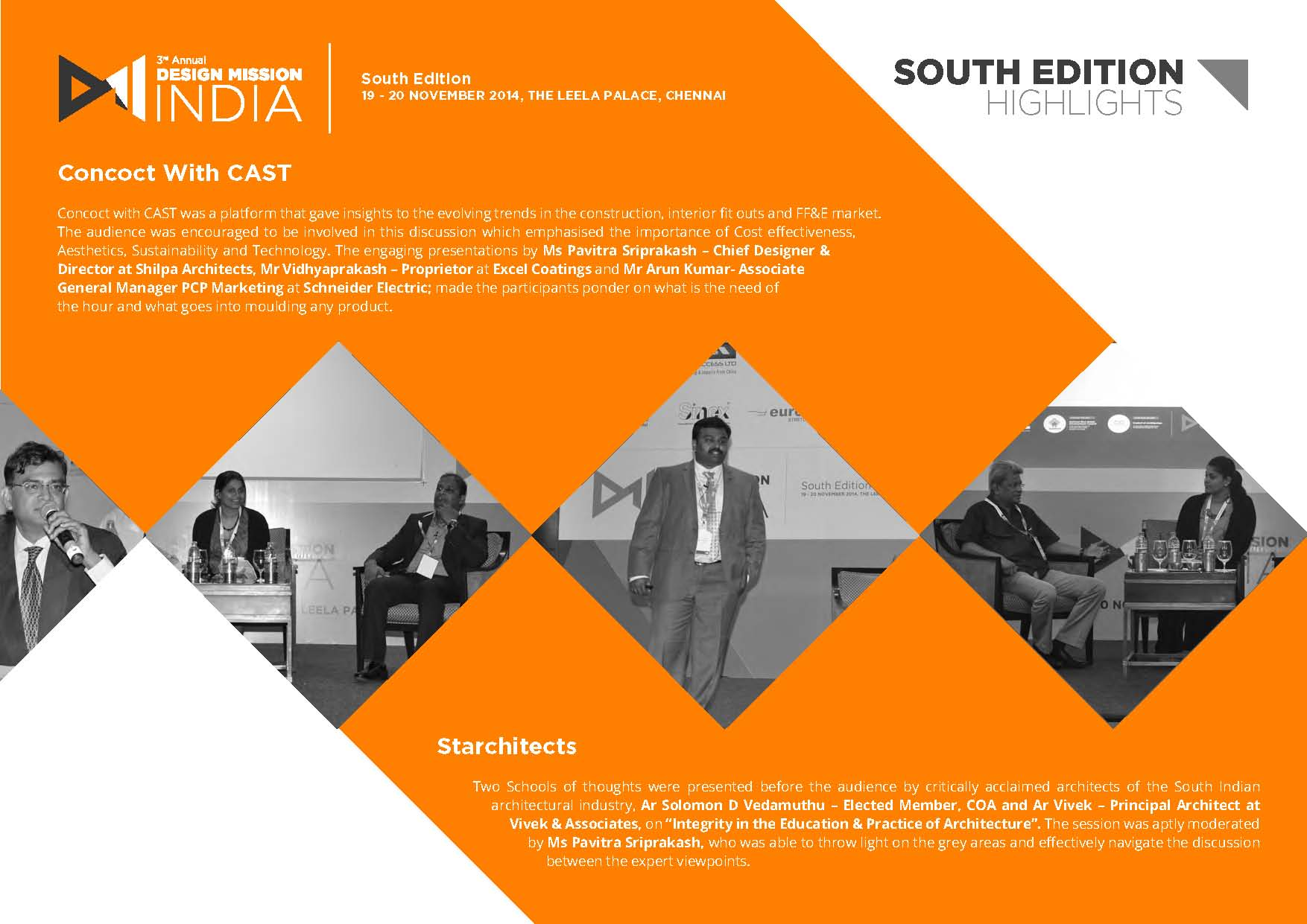 3rd Annual Design Mission India: POST EVENT REPORT with Pavitra Sri Prakash, the Chief Designer and Director of Shilpa Architects.   Pavitra spoke at a panel about designing products that highlight its Uniqueness in Cost effectiveness, Aesthetics, Sustainability or Technology. The conference was hosted in partnership with NAREDCO (National Real Estate Development Council) and Council of Architecture (COA).