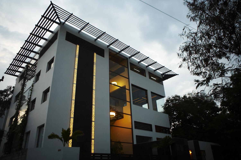 global design studio of shilpa architects evening shot
