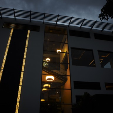 Global Design Studio of Shilpa Architects - Night Shot