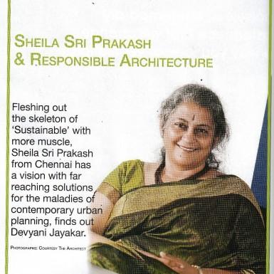 Shilpa Architects - Sheila Sri Prakash - Media Interview - Inside Outside Magazine