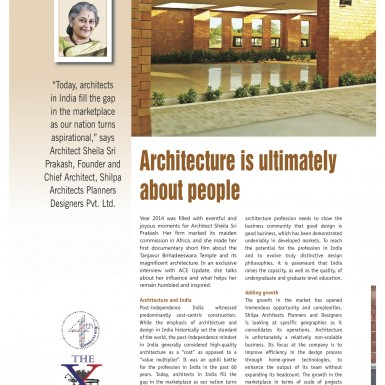 Shilpa Architects - ACE Update Magazine