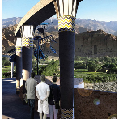 Bamiyan Cultural Center View of Historical Site