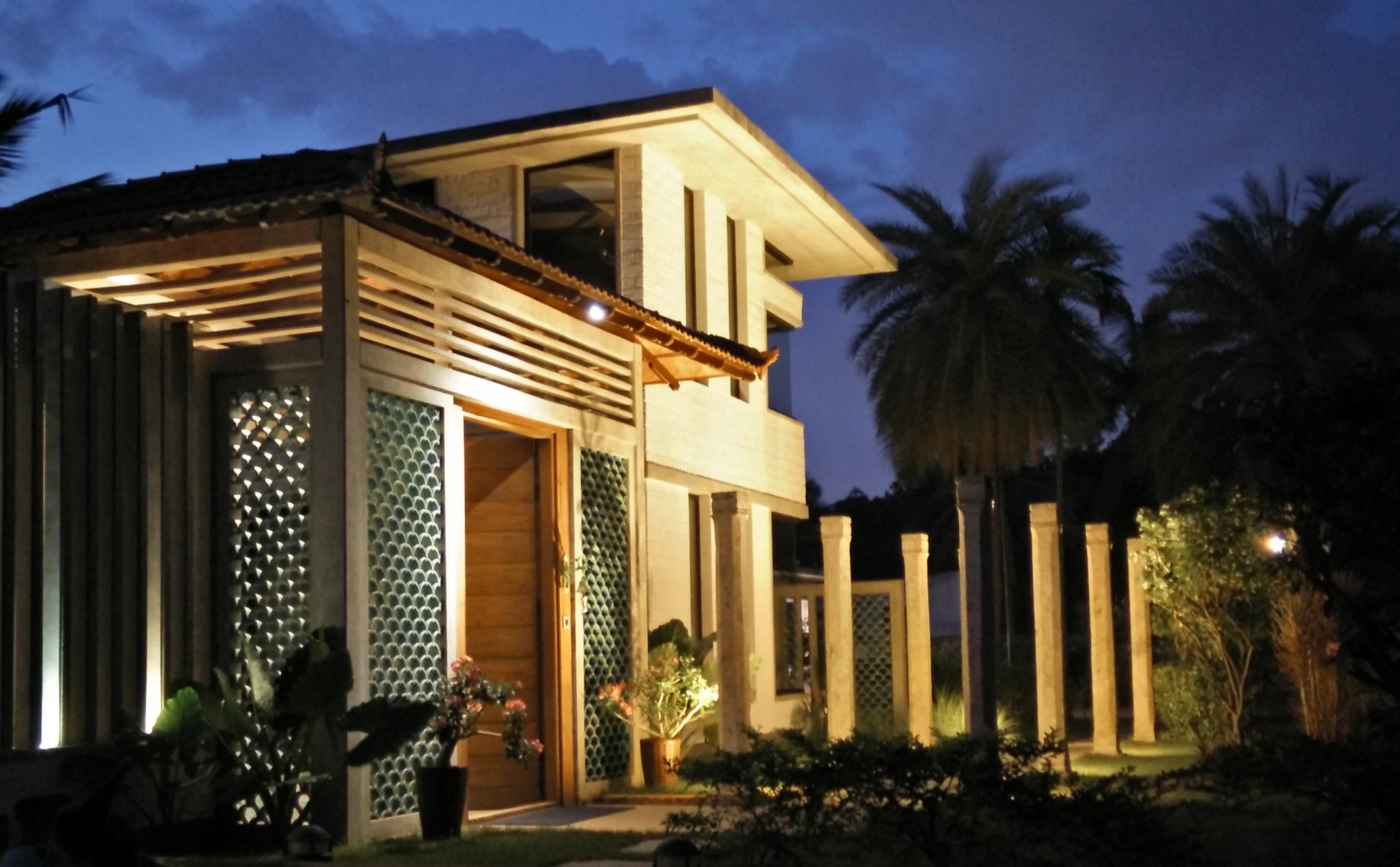 Shilpa Architects - Copper Beach Gardens Night Shot