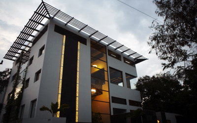 Shilpa Architects Studio Exterior Evening
