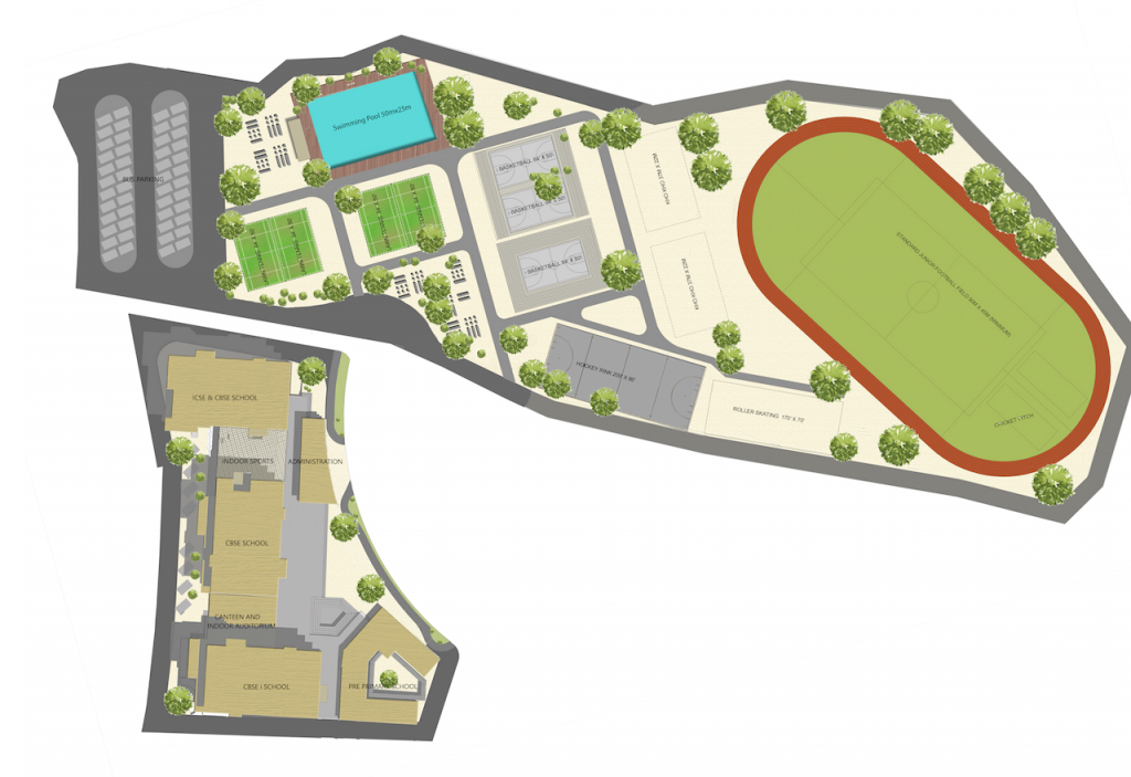 Site Plan - International School - Shilpa Architects Planners Designers