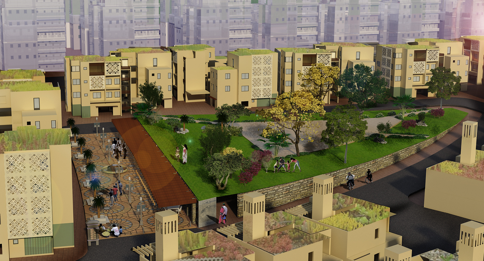 Shilpa Architects Concept Design Master Plan Dubai Town