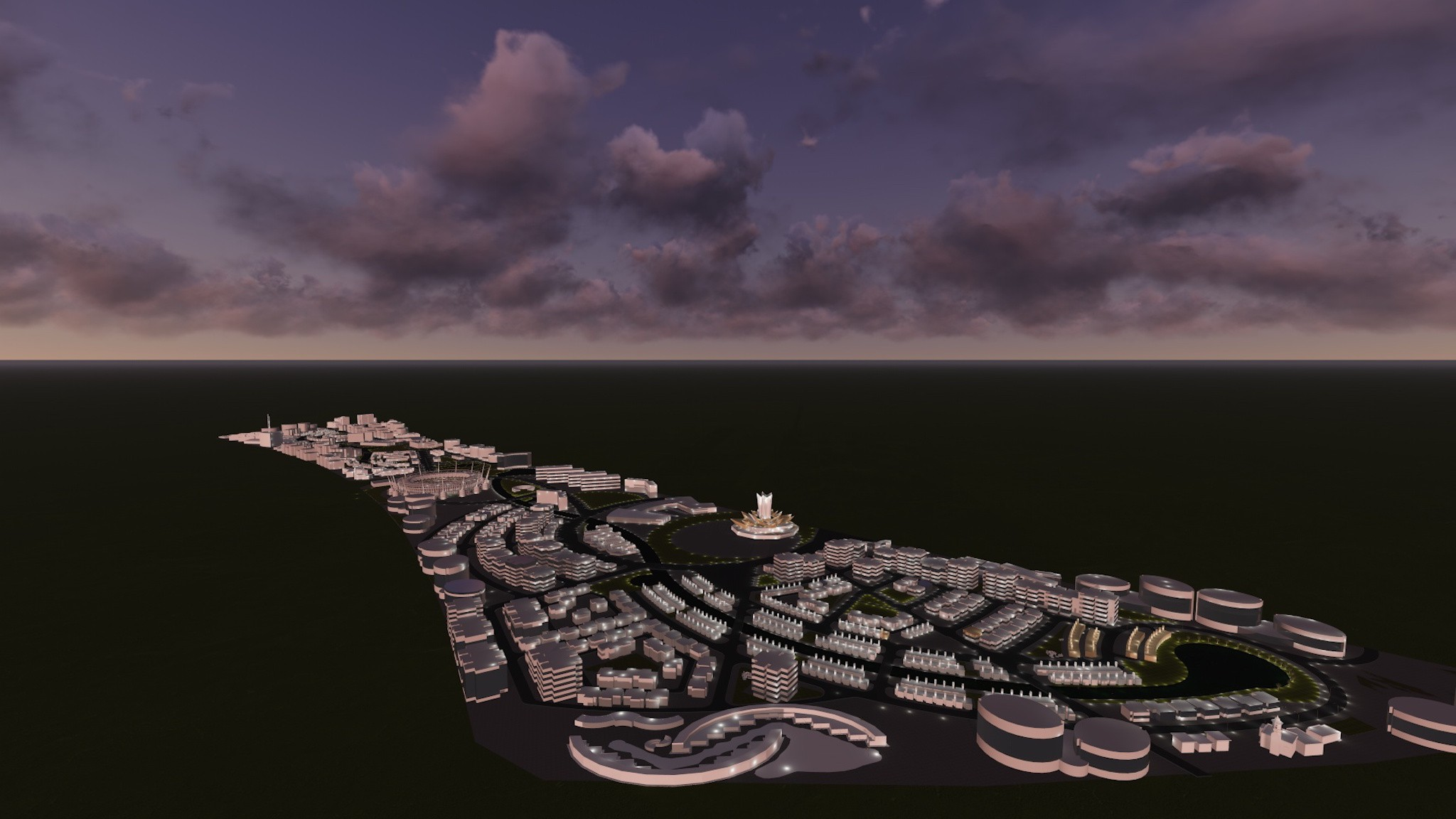 Dubai Town - Master Plan and Concept Design by Shilpa Architects