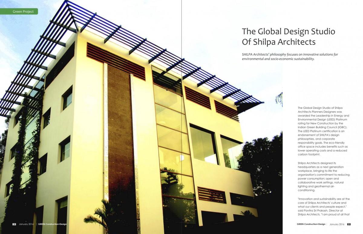 Green Construction and Design Magazine Shilpa Architects Studio