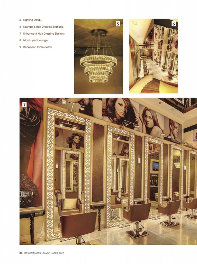Design Matrix Zique Mar-Apr16 Issue Pavitra Sriprakash - Salon Spa Interiors