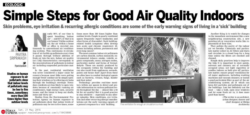 #22- 23May16 Indoor Air Quality