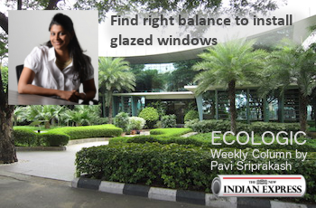 ECOLOGIC: Find right balance to install glazed windows