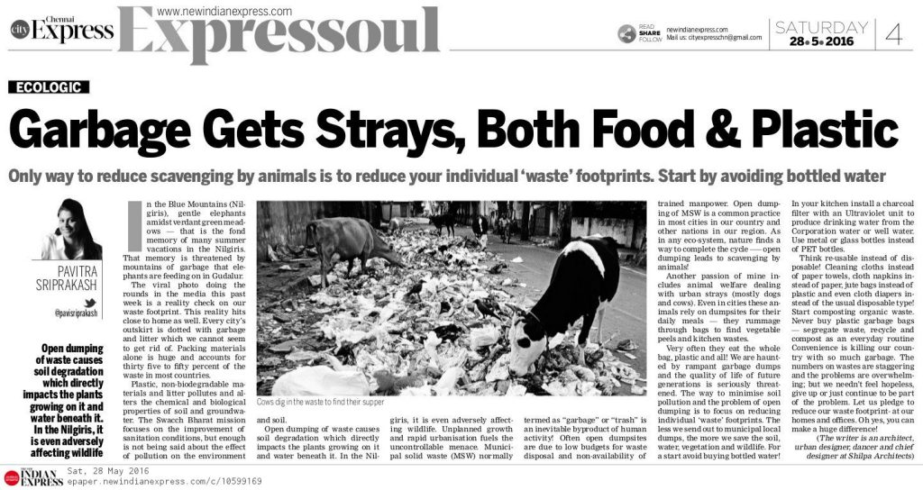New Indian Express Pavi Sriprakash ECOLOGIC