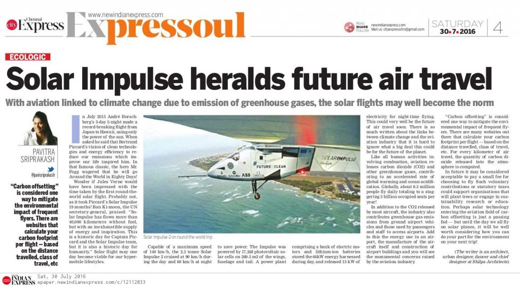 30Jul16 ECOLOGIC Solar Impulse
