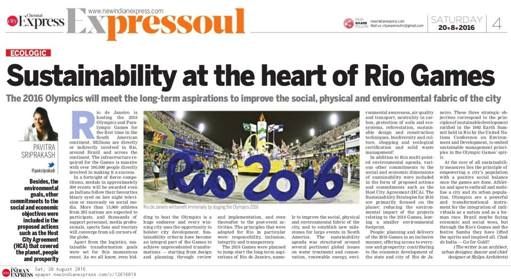 RIO Games Sustainability Management Plan Pavitra Sriprakash