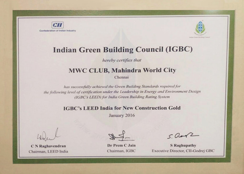 MWC Club - Gold certificate