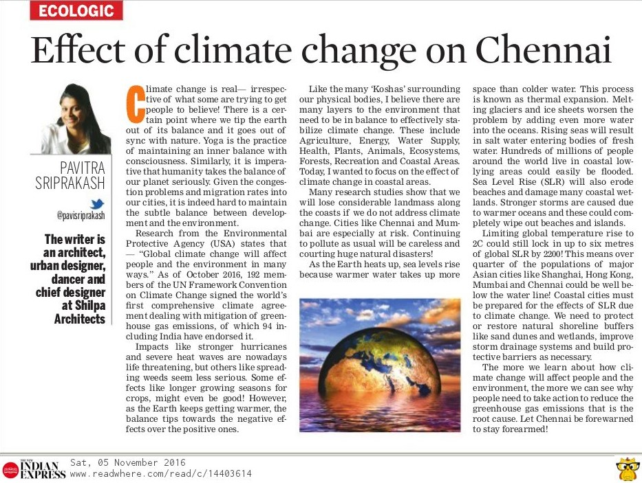 Effect of Climate Change on Chennai Shoreline