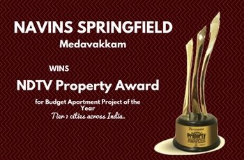 NDTV Property Award 2016 to Navin's Springfield