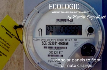 ECOLOGIC: Use solar panels to fight climate change