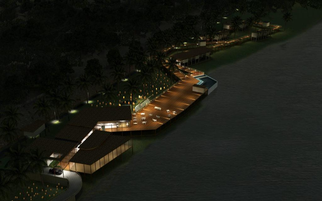 AP Riverside Resort Night View