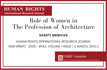 Journal: Role of Women in The Profession of Architecture