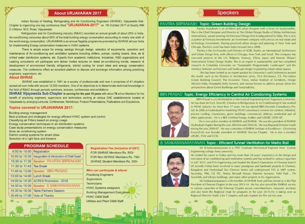 Urjavaran brief and speaker profiles
