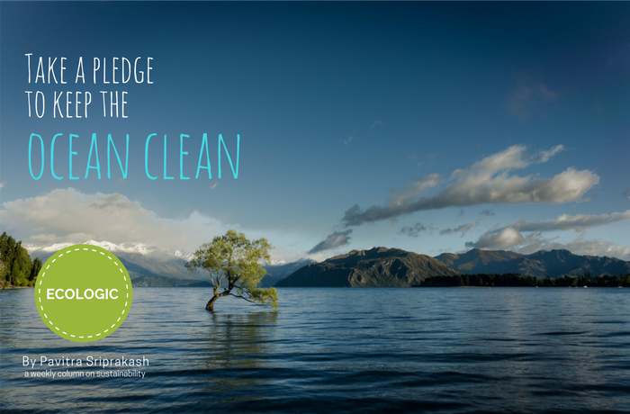 ECOLOGIC : Take a pledge to keep the ocean clean