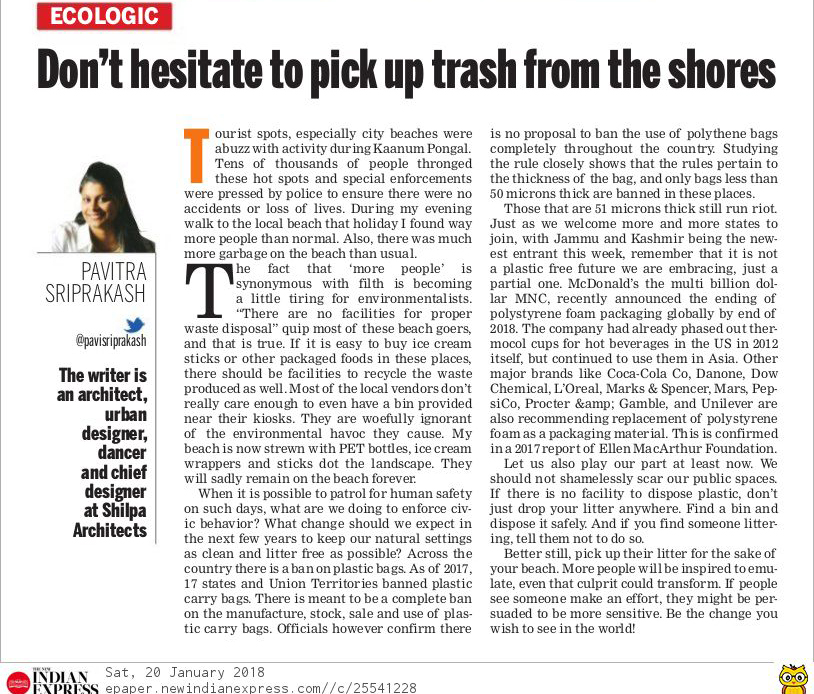 Ecologic article on importance of picking up trash