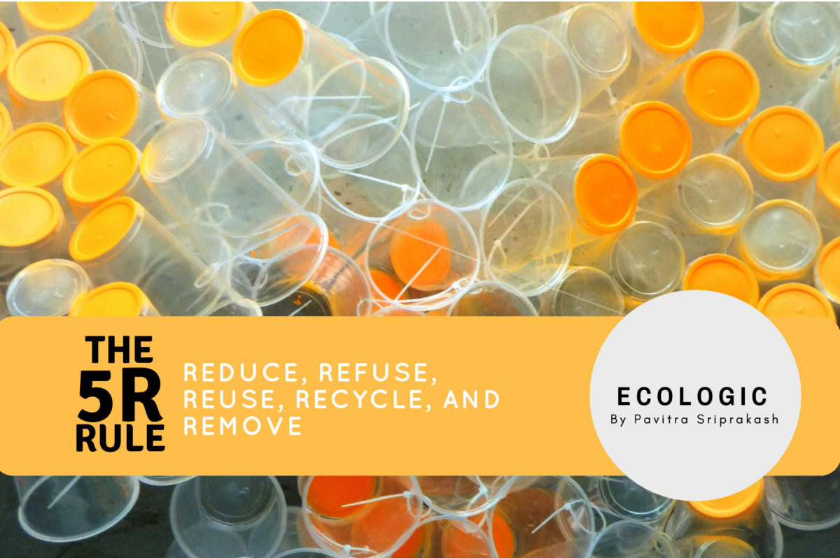 The 5R rule: Reduce, Refuse, Reuse, Recycle, and Remove