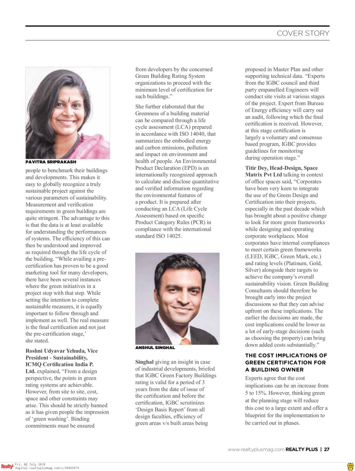 Realty Plus June 2018 - Page 27