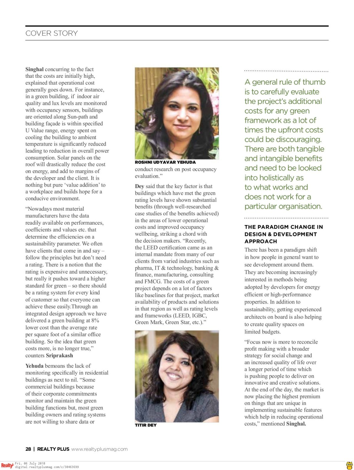 Realty Plus June 2018 - Page 28
