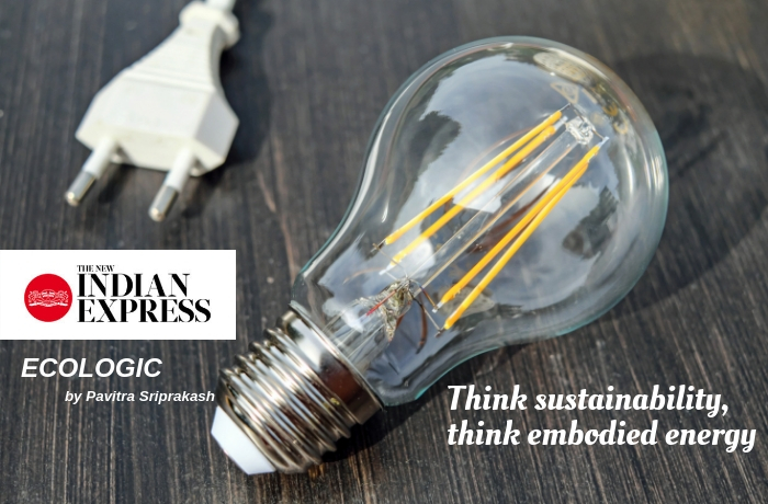 ECOLOGIC: Think sustainability, think embodied energy
