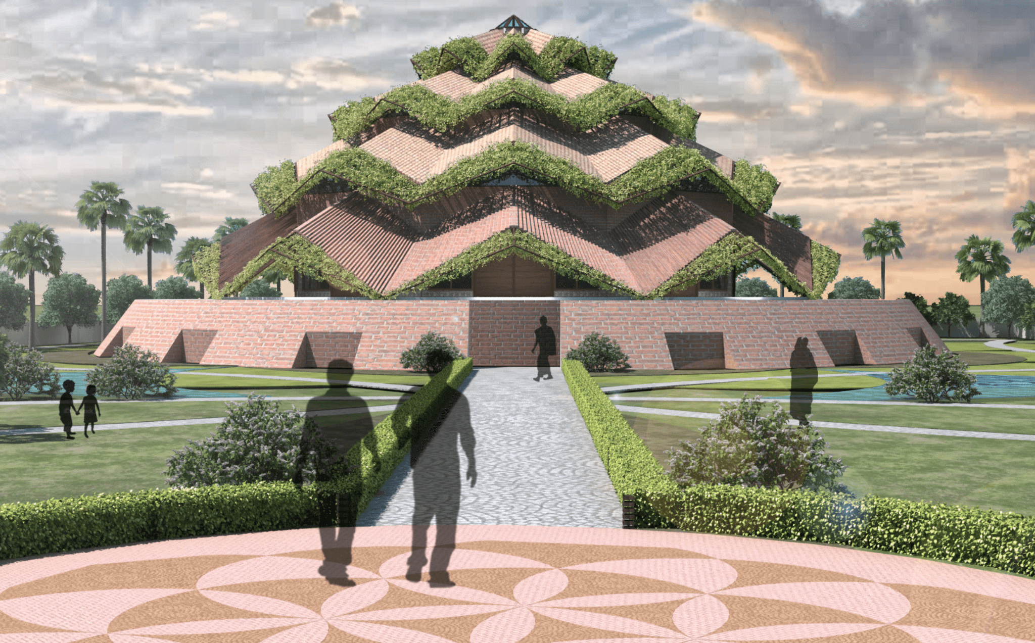 "A civic project titled 'BAHAI TEMPLE' inspired by principles of Sacred Geometry and the description of the House of worship promoting the ""oneness of humankind""."
