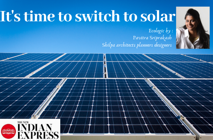 ECOLOGIC : It's time to switch to solar